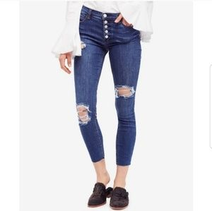 Free People Reagan Button Front Jeans Size 30